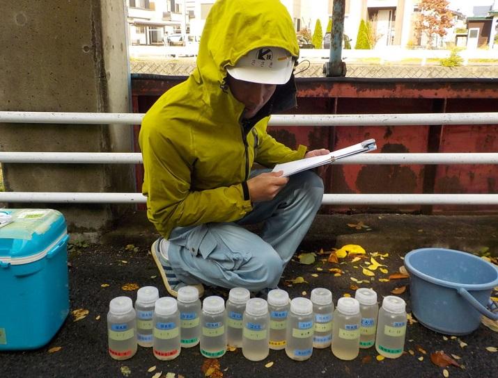 水質調査(弘前市元請業務)